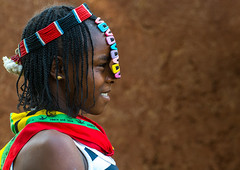 Profile of a bana tribe teenage girl with clips in the hair, Omo valley, Key afer, Ethiopia (Eric Lafforgue) Tags: africa portrait people woman haircut color girl beauty smiling fashion horizontal hair outdoors photography necklace women day african decoration clips jewelry tribal teenager blackpeople omovalley copyspace ethiopia cheerful tribe sideview hairstyle bana cultural oneperson jewel braid braided adornment lifestyles hornofafrica ethiopian banna eastafrica abyssinia blackskin oneyoungwomanonly keyafer 1people onegirlonly beadednecklaces blackethnicity modernityandtradition ethio162167