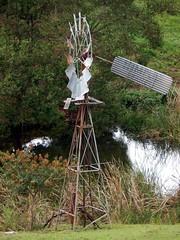 IBC 8 foot Geared Simplex windmill, 1950s pattern, Maleny, Queensland, Australia (sarracenia.flava) Tags: windmill australia boring ridge company queensland balmoral montville maleny ibc geared simplex intercolonial