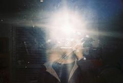 Self Portrait (pablo.sutton) Tags: selfportrait colour mirror flash 200iso 35mmfilm analogue agfa olympustrip35 michaels agfavista200 filmisnotdead