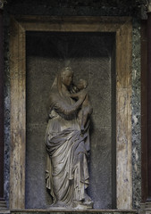Our Lady in the Pantheon (Lawrence OP) Tags: sculpture rome jesus pantheon blessedvirginmary