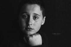 Aidan (jalquinn) Tags: boy portrait people blackandwhite white black male monochrome canon studio background indoor freckles tween