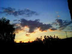 . Beautiful sunset. (lubovhoney) Tags: morning sunset sky panorama cloud sun beautiful clouds goodshot phonephoto         sunsetssunrises