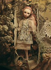 world in a box (tehhishek) Tags: world flowers flower monster nude high model beige doll box ooak dry custom mattel gargon viperin kylottory