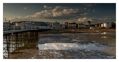 Worthing Pier and Reflections I (go18lf2004) Tags: light beach clouds reflections sussex coast pier worthing sand mood pebbles promenade