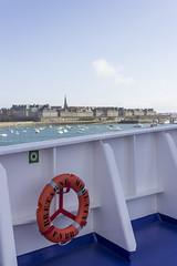 St Malo (sequentialogic) Tags: brittany ship bow lifebuoy buoy stmalo brittanyferries mvbretagne