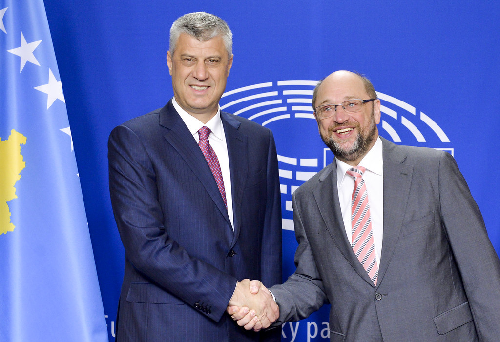 Image result for thaçi and martin schulz 2017