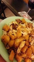 it was...sorta Indian. (carbonated) Tags: cooking rice indian vegetarian cauliflower butternut tempeh sortof jadeite