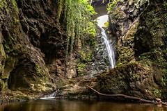 The Hidden Waterfall at Den of Finella (Derek Coull) Tags: history beautiful river waterfall natural secret hidden mysterious rockformation stcyrus johnshaven samsungnx500 denoffinella
