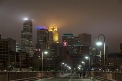 Minneapolis Haze (mtuswan) Tags: skyline clouds downtown minneapolis stonearchbridge