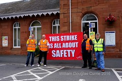 RMT Picket at Dumfries railway Station (stonetemplepilot5) Tags: rmt picket dumfriesstation scotland sony sonya6000 a6000 ngc sonyflckraward solidarity workers tradeunions