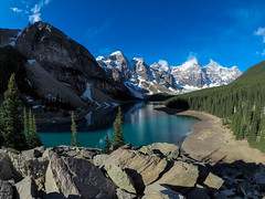 Moraine Lake (RS_1978) Tags: berge kanada wald olympusem5ii gewsser see acqua eau forest fort lac lago lake montagnes mountains wasser water   banffnationalpark alberta ca landschaft natur