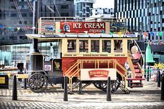 Steam Tram (ihughes22) Tags: nikon tram steam icecream albertdock liverpoolecho liverpooloverheadrailway ihughes22 liverpoolsteamtram