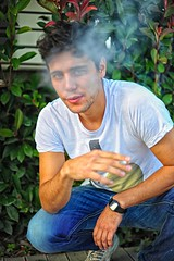 Close, But No Cigar (Steve Lundqvist) Tags: boy portrait people outside kid cigarette smoke young cigar smoking ritratto