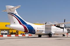 CFR2282 ATR-42-300(F) EC-ISX (Carlos F1) Tags: nikon d300 aircraft airplane aeroplane aeronave avin transporte transport spotter spotting bcn lebl machine ecisx swiftair atr42300f atr42300 at42 propeller helix hlice freighter carguero elpratdellobregat barcelona spain