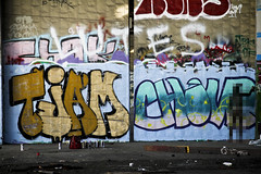 Toejam & Chone (Say Cheese & Die) Tags: sf art movie graffiti bay san francisco action progress area hcm lutes syb toejam chones luter chone tjam 2dank