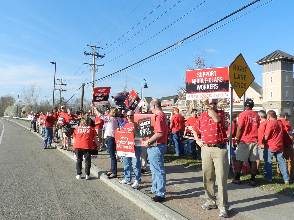 the world s best photos by new york state afl cio flickr hive mind cwa rally stand up to corporate greed hudson valley 22 2012