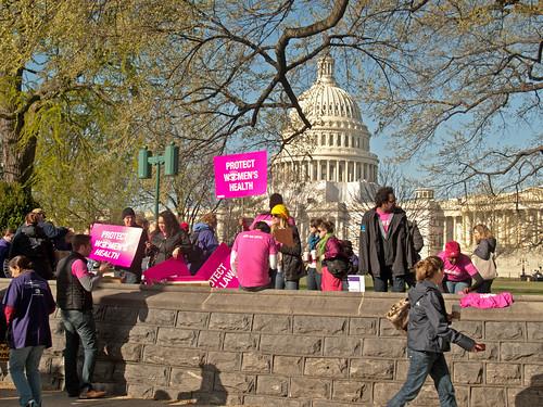 From flickr.com: Pro-Obamacare Demonstrators {MID-69947}