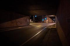 Go (Ranga 1) Tags: longexposure nightphotography urban cars industry sadness lowlight nikon loneliness australian australia melbourne victoria suburbs greenlight tunnels urbanlandscape alienation davidyoung tokina1224mmf4 lowlightphotography trafficights hothamhill