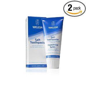德国Weleda维蕾德Salt Toothpaste有机海盐牙膏2.5盎司(2支装)优惠叠加后$7.55孕妇可用