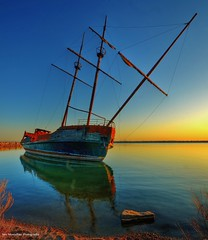 abandoned pirateship in jordan station (niagara) (Rex Montalban) Tags: abandoned sunrise nikon niagara jordan shipwreck lakeontario hdr nationalgeographic pirateship hss ghostship photomatix jordanstation d7000 rexmontalbanphotography sliderssunday