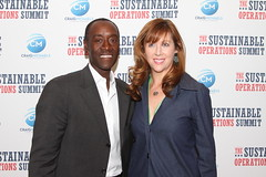 Don Cheadle, Beth Colleton (Sustainable_OS_2012) Tags: nyc greenbusiness sustainableoperationssummit