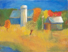 Country Barns -pastel