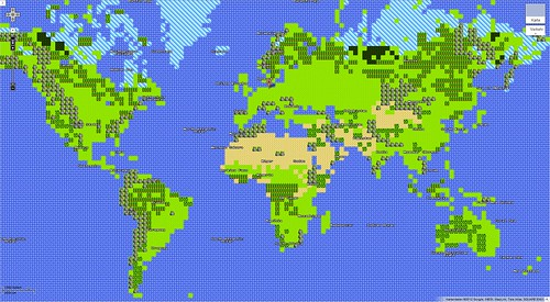 Google Maps 8Bit April Fools Day Worldmap