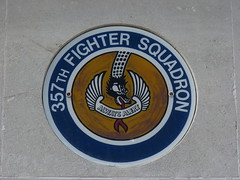 357th Fighter Squadron badge ( Claire ) Tags: station 3d memorial fighter no group 4th 11 wellington ww2 mustang dday cambridgeshire raf airfield 122 secondworldwar squadron thunderbolt p51 vickers worldwartwo p47 sqn usaaf prg eighthairforce bombercommand alwaysalert steeplemorden 357th 4thfightergroup vickerswellington 355thfg 355thfightergroup 4thfg station122 3dphotographicreconnaissancegroup