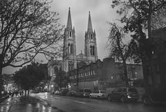 The Immaculate Conception (mattsantomarco) Tags: street sky urban white black texture film church rain matt photography catholic moody religion stormy landmark denver historic hdr conception immaculate santomarco