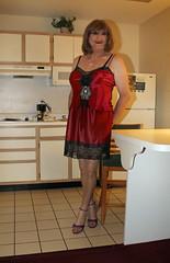 new49300-IMG_1576t (Misscherieamor) Tags: kitchen tv feminine cd motel tgirl transgender mature sissy tranny transvestite slip satin crossdress ts gurl tg travestis travesti travestie m2f xdresser tgurl