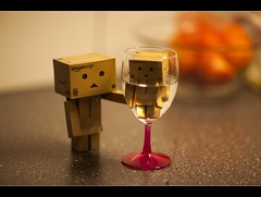 can i offer you this wine? 171/366 (Bertus van de Vorstenbosch Photography) Tags: world 2 canon project eos big mark small figure 5d minifigure danbo 366 cartboard revoltech project366 danboard wwwbvdvorstenboschnl