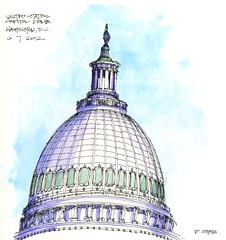 U.S. Capitol Dome (Don Gore (dgdraws)) Tags: pen ink watercolor washingtondc sketch washington districtofcolumbia uscapitol capitol dome capitoldome dongore
