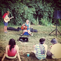 Julia Olliges at simple church picnic