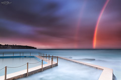 Somewhere (Bruce_Hood) Tags: ocean longexposure sunset sea seascape water pool clouds rainbow nikon bath pacific sydney australia nsw newsouthwales northernbeaches curlcurl southcurlcurl