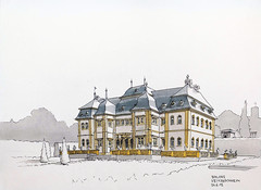 Veitshoechheim Castle (Namtra) Tags: pencil drawing watercolour barock wrzburg bleistift veitshchheim zeichnung aquarell rokoko fineliner balthasarneumann antoniopetrini schlossveitshchheim
