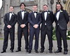 Martin O'mahoney, David O'Driscoll, Gordon D'Arcy, Ian D'Arcy and Gearoid Hayes The wedding of model Aoife Cogan and rugby star Gordon D'Arcy, held at St. Macartan's Cathedral Monaghan, Ireland