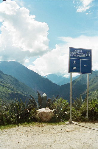 sign on the trek to Choquequirao, Day 1