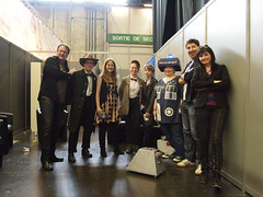 Chris Chibnall, Toby Haynes, Caroline Skinner,  my friends and Me (Duam78) Tags: chris toby paris gold comic panel who doctor bbc caro skinner murray con haynes chibnall