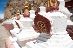 Stupa Progression (vividcorvid) Tags: china old abstract building architecture ancient asia buddha stupa buddhist religion buddhism places tibet historic namtsolake heavenlylake