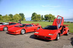 Father and son (Dylan King Photography) Tags: red orange white canada vancouver silver lights nikon driving bc shots head interior side rear wing engine sunny columbia front spanish british carbon fiber panning rolling v8 banks tracking v10 v12 d90 18105mm