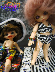 Sir Percy's and Raven's swimwear (serenity jenny) Tags: beach ball dark fun star outfit tinies doll dolls play handmade clothes tiny pirate bjd wars cupid ruby sir swimsuit raven fairyland joint swimwear percy puki pukis pukipuki cupid3 pukipukioutfits