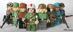 Group Shot Of My Female German Soldiers (MR. Jens) Tags: world two berlin water k soldier war pattern