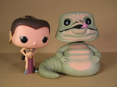 Funko Pop! Slave Leia and Jabba the Hutt bobble-heads (FranMoff) Tags: starwars pop jabba bobblehead leia funko hutt slaveleia funkopop