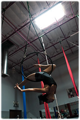Gazelle (Mary Adrenaline) Tags: arizona woman phoenix pose asian pentax candid lifestyle aerial indoors balance inverted fitness gazelle graceful hang flexibility trainning k10d aerialhoop circusschoolofarizona maryadart