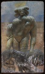 VIII - Strength (Seeing Visions) Tags: sculpture woman mountains statue desert magic lion card tarot strength viii photocollage 2012 majorarcana divination infinitysymbol leminiscate raymondfujioka