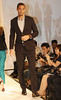 Rio Ferdinand Manchester United football players pose on the catwalk during a Hublot Charity Dinner and Fashion Show event in aid of the MU Foundation at Shangri-La Hotel Shanghai, China