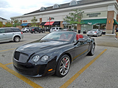 Bentley Continental Supersports Convertible (Hertj94 Photography) Tags: park black public mall illinois nikon july continental convertible deer exotic british spotted bentley 2012 supersports worldcars s8200