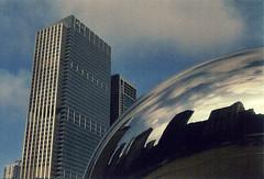 Cloud Gate (lee.kaiser) Tags: city travel portrait urban usa chicago analog canon cities lakemichigan analogue