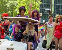 Montreal Pride Parade 2012 (montreal_bunny busy with work) Tags: summer fun downtown purple montreal pride 2012 flickraward 2010yip 3662012 montrealprideparade2012