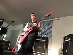 too hot, get to the AC-Bus (laughing lucifer) Tags: fellbach 20thaugust guitarclinic jeffwaters